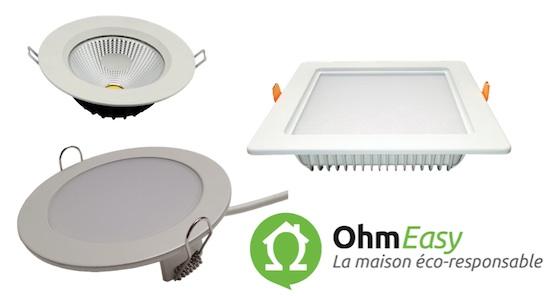 une gamme de plafonniers led professionnels eclairage led ohm easy. Black Bedroom Furniture Sets. Home Design Ideas